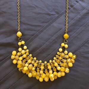 Jewelry - Yellow beaded necklace on gold colored chain